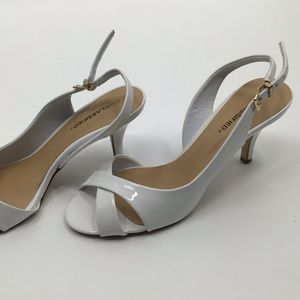 City ClassifiedFaux Patent Leather Strappy Sandal